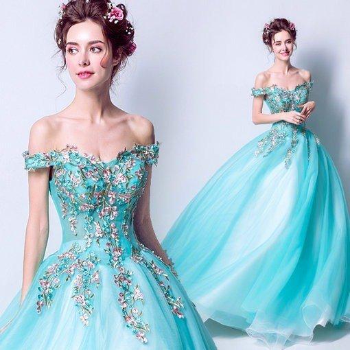 b28aff68bd5 Aqua Blue Quinceanera Dresses Bridal Dress - Cheap Prom Dress ...