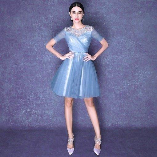 blue cocktail dress-244-03