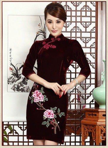 cheongsam dress short-048-07