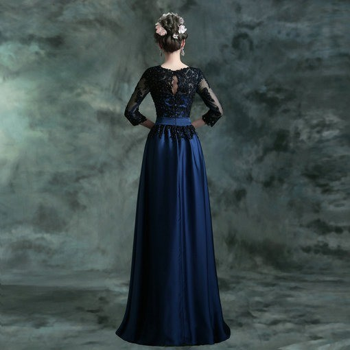 evening dress with sleeves-91-08