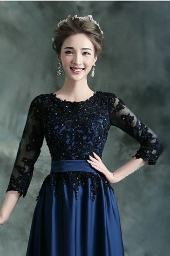 evening dress with sleeves-91-10
