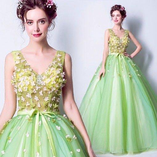 green quinceanera dress-290-07