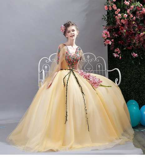 50ef6823ee4 Quinceanera Dress Yellow for sale - Cheap Prom Dress