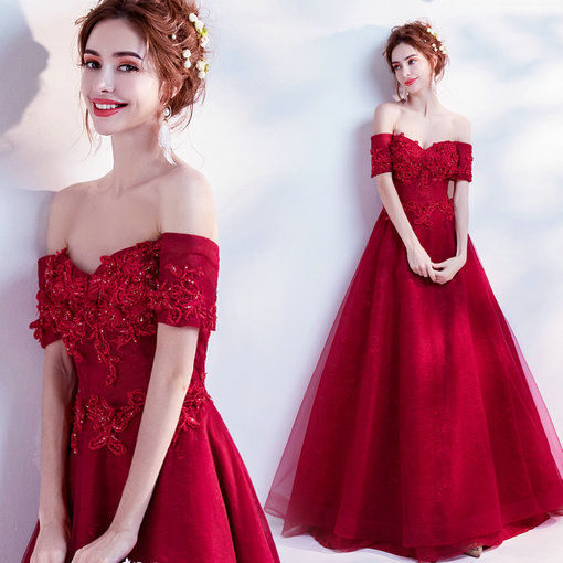 a line evening gown 0504-08