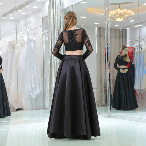 black evening gown 0521-02