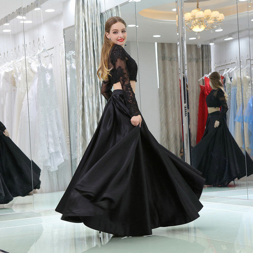 black evening gown 0521-04