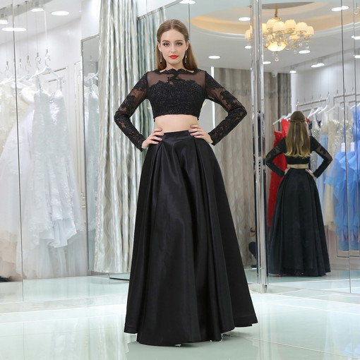 black evening gown 0521-06