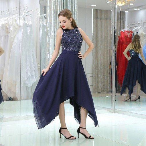 dark blue cocktail dress 0523-05