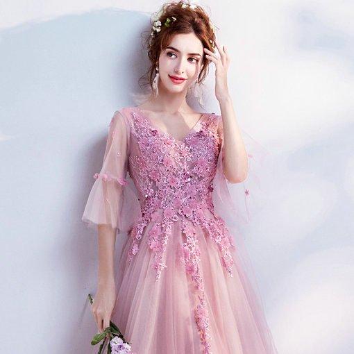 evening dress long sleeve 0501-08