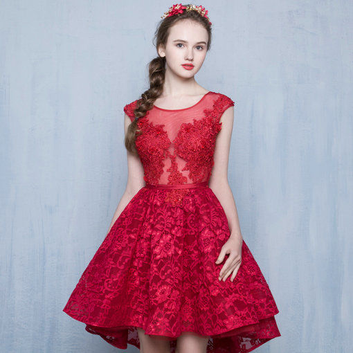 Red Cocktail Dress Prom Party Dress