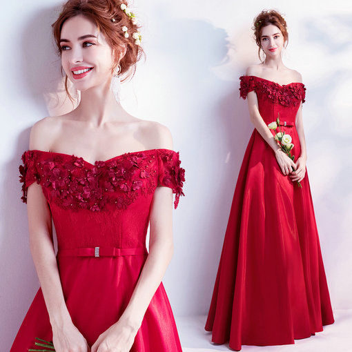red evening gown 0503-04
