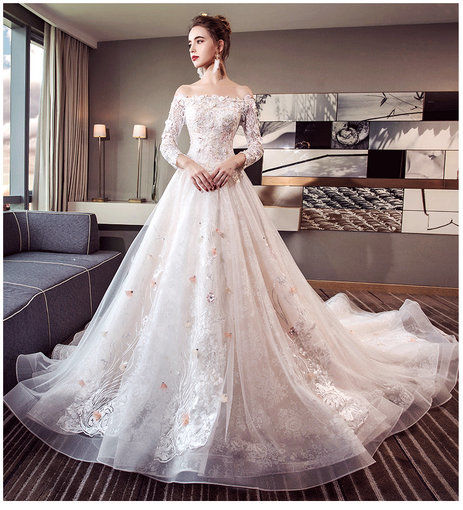 Affordable Long Sleeve Wedding Dress