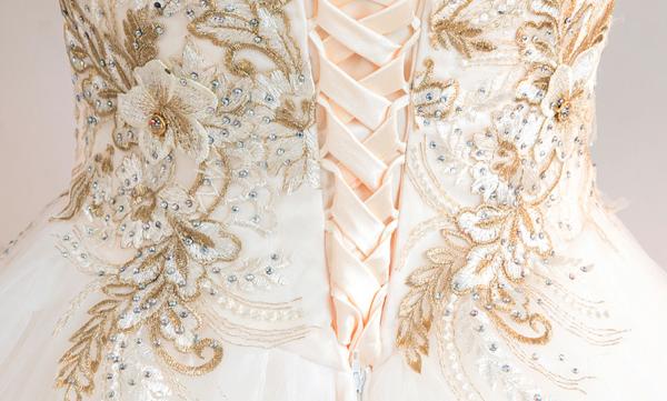 ball gown wedding dress strapless 762-03