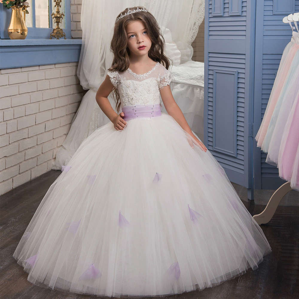d3357bac0 Childrens Wedding Dresses White Ball Gown Gowns For Girls