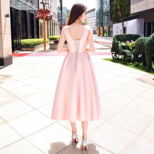 cocktail dress pink 0728-01