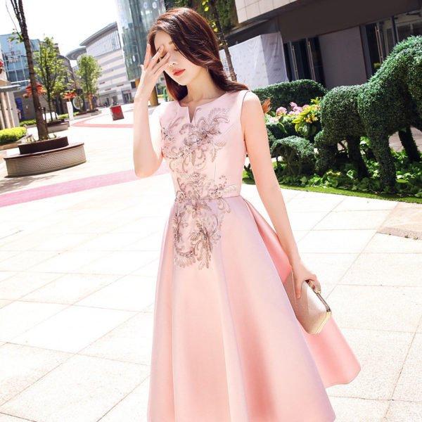 cocktail dress pink 0728-04