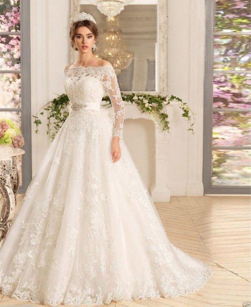 lace wedding dress ivory 0719-01