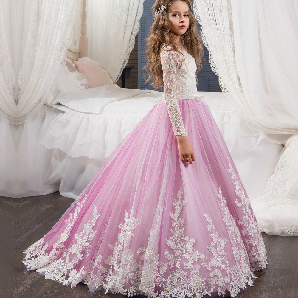 f26c065da1c Flower Girl Dresses Lace Long Sleeve - Gomes Weine AG