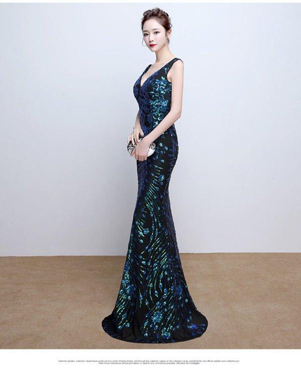 black mermaid dress 0815-02