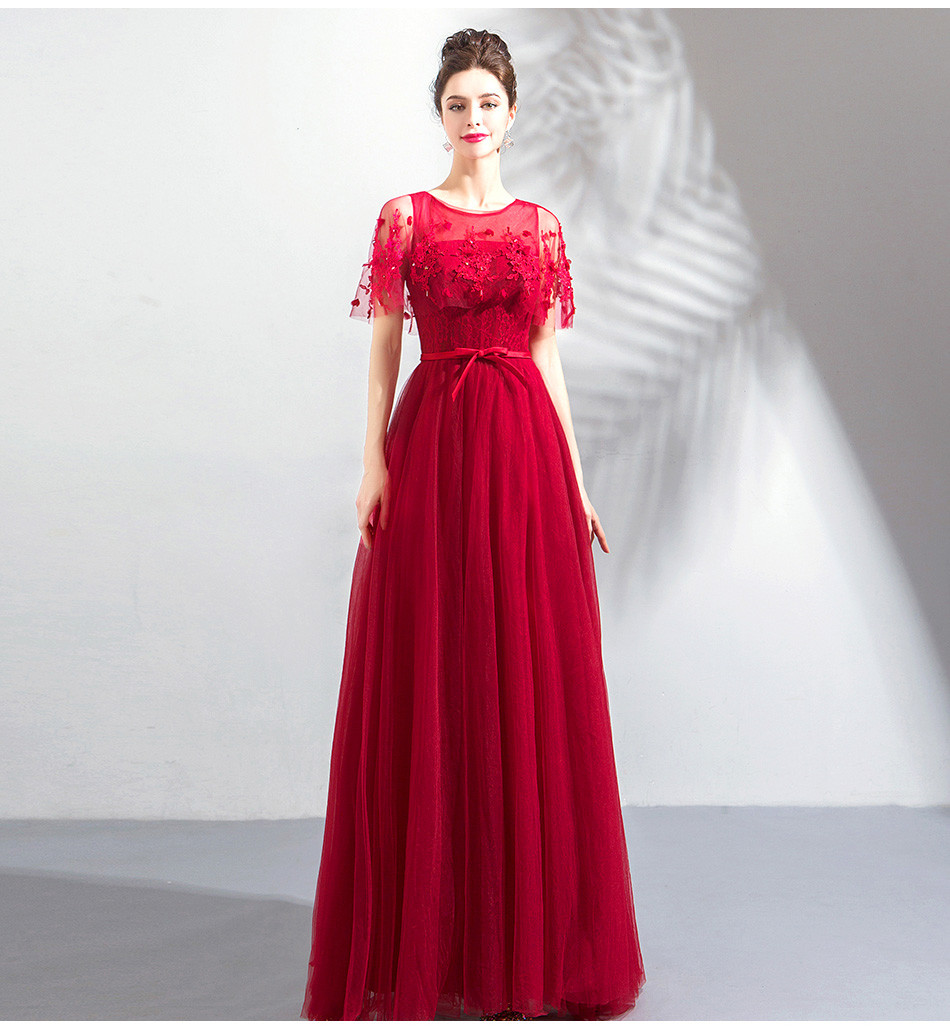 5f504252227d Red Formal Dress Long A Line Lace Prom Dress Online For Sale
