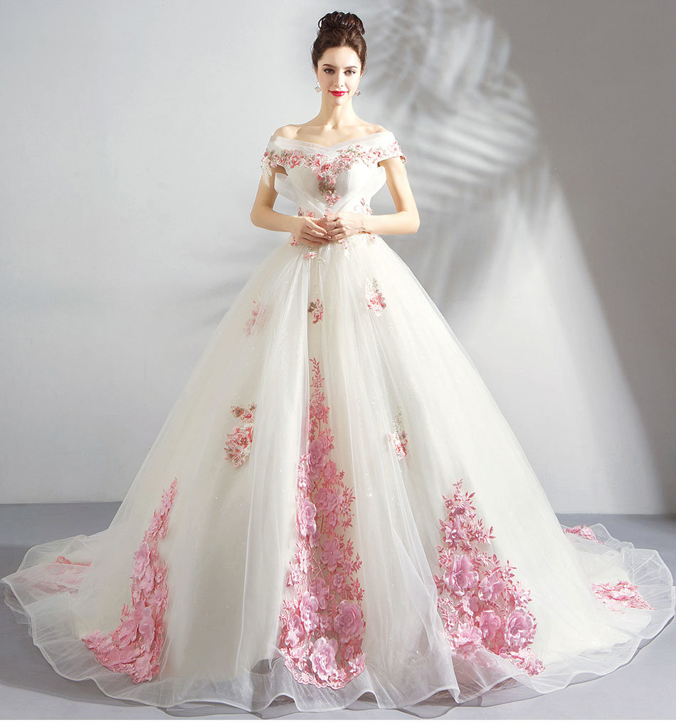 Wedding Gowns In Pink