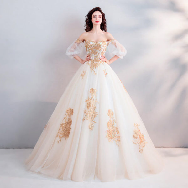 two color wedding dress 0923-02