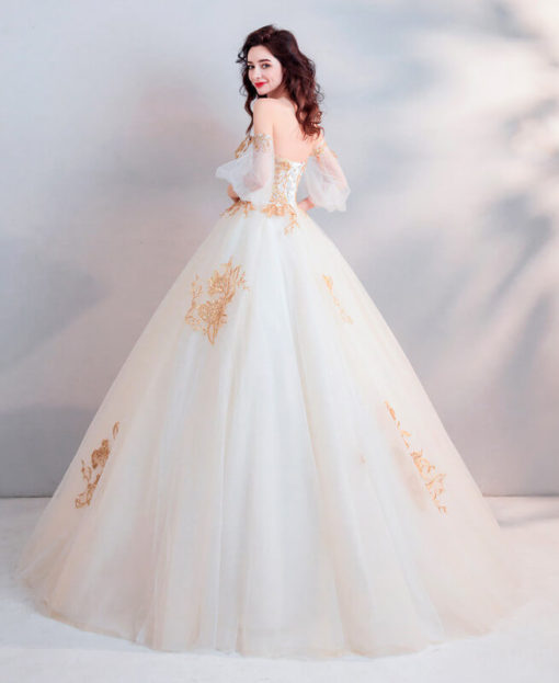 two color wedding dress 0923-03