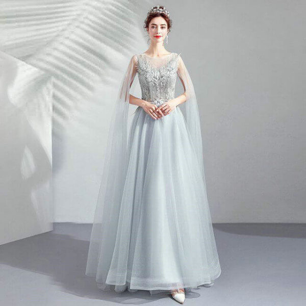 prom dress with cape 966-04