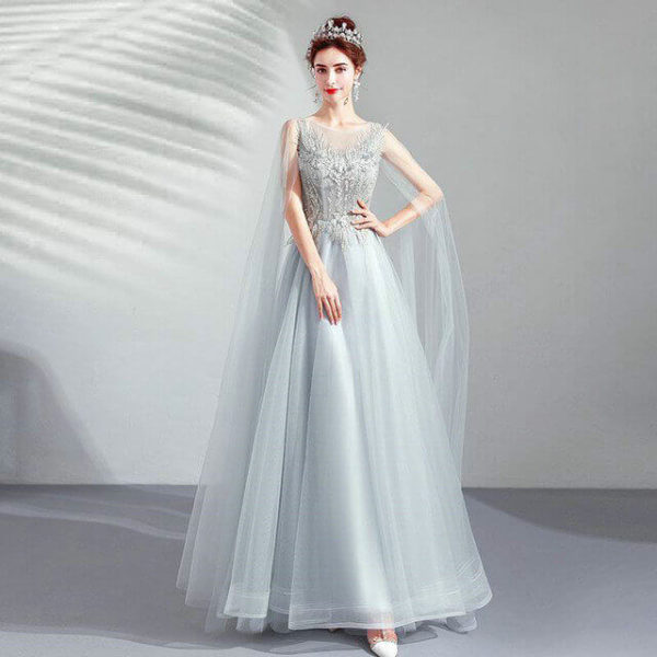 prom dress with cape 966-07