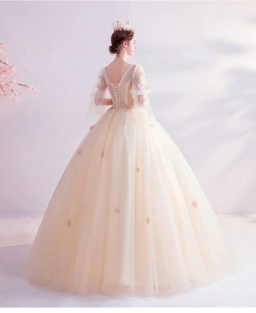 champagne ball gown 992-02