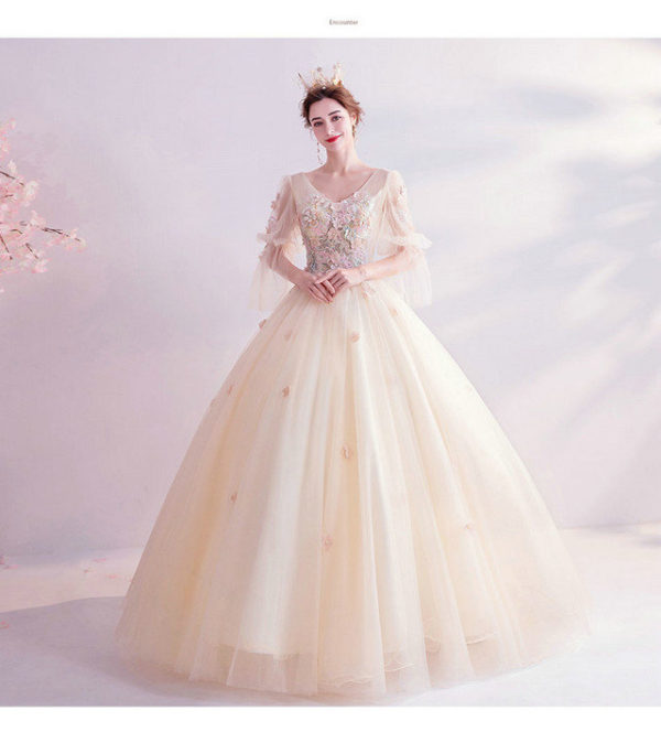champagne ball gown 992-04