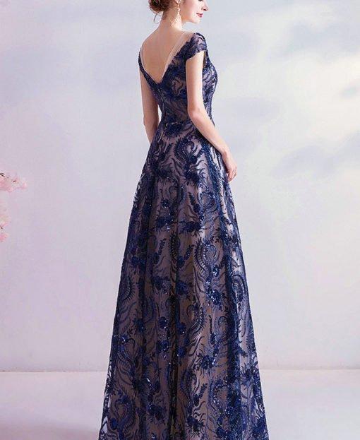 dark blue prom dress 984-02
