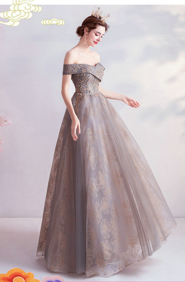 grey formal gown 987-04