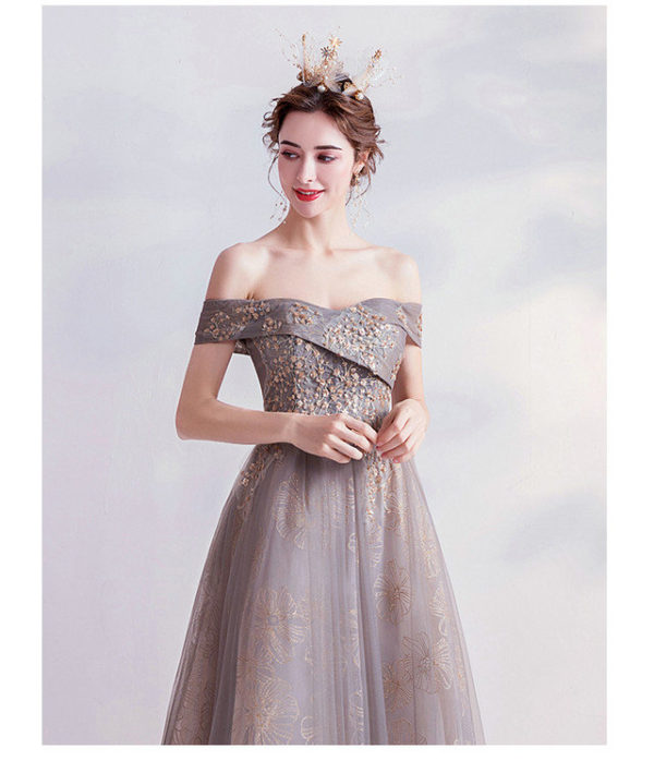 grey formal gown 987-05