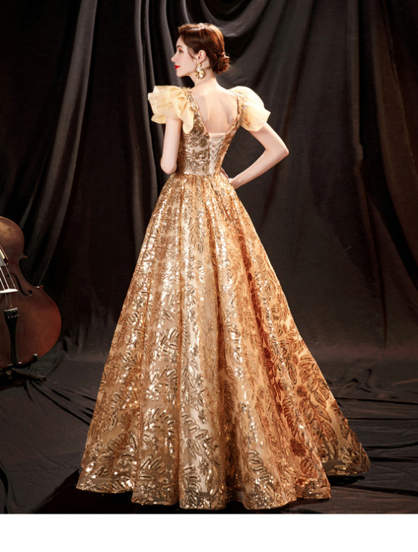 gold quinceanera dress 1260-001