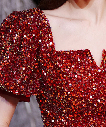 red sequin cocktail dress 1258-008